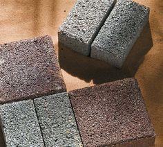 blocos drenantes feitos de concreto poroso