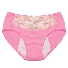 Pretty in Pink for Your Period! Intimate Portal Women's Valerie Leak Proof Low Rise Sanitary Panty Pink Large