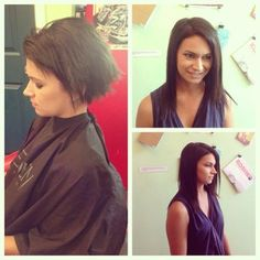 #beforeandafter #hairextensions by @hairstylejes at #strangebeautyshow