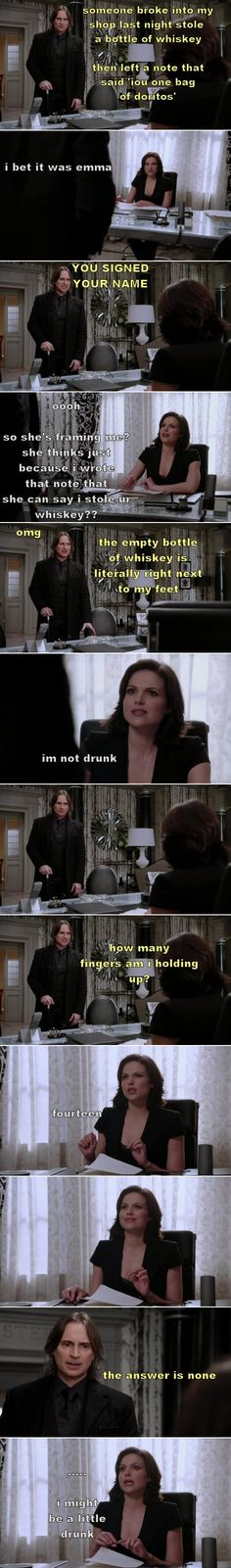 "Drunk!Regina  ""I'm Not Drunk"".  (source: thelast-thingido.tumblr)"