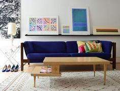 Art on a Ledge over a couch