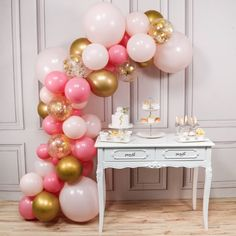 PartyWoo Pink and Gold Balloons, 44 pcs Light Pink Balloons, Gold Metallic Balloons, Fuchsia Balloons and Gold Confetti Balloons for Pink and Gold Baby Shower, 4 pcs 18 In Jumbo Pink Balloons Included Gold And Pink Balloons, Metallic Balloons, Gold Confetti Balloons, White Balloons, Latex Balloons, Deco Baby Shower, Gold Baby Showers, Baby Shower Balloons, Balloon Arch Diy