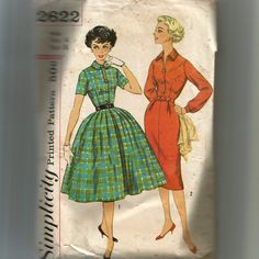 Simplicity Misses' and Junior One-Piece Dress With Two Skirts Pattern 2622 by NewAgain on Etsy