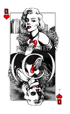 Marylin Monroe Tattoo design by TheOnePandemonium on DeviantArt Marilyn Monroe Drawing, Marilyn Monroe Wallpaper, Marilyn Monroe And Audrey Hepburn, Marylin Monroe, Marilyn Monroe Tattoo, Marilyn Monroe Quotes, Tattoo Old School, Cool Playing Cards, Prison Art