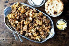 "Sheet Pan Chicken and Cauliflower ""Shawarma"" recipe on Food52"