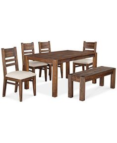 avondale 6pc dining room set table bench u0026 4 side chairs