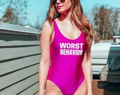 Squad Swimsuits - Custom Swimsuits - Dirty Thirty Swimsuit - Birthday Swimsuit - Birthday Slay - Bride Tribe Swimsuit #bridalswimswear #luxuryswimswear #swim #onepiece Adult Christmas Pajamas, Birthday Swimsuit, Bridal Swimwear, Bride Bikini, Custom Swimsuits, Couple Pajamas, Personalized Pajamas, Team Bride