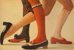 60s socks, stockings and shoes were the best!
