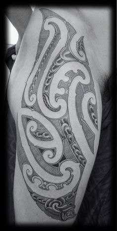 Custom-New-Zealand-Maori-Ta-Moko-Kirituhi-Pacific-Tribal-Thigh-and-Hip-Tattoo-Design_tattoo-gallery.jpg 455×900 pixels