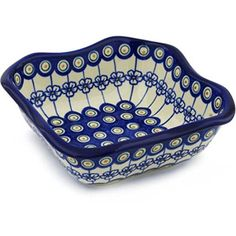Ceramika Bona H0677H Polish Pottery Ceramic Square Bowl Hand Painted 8Inch -- More details @