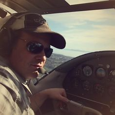 Cruising in a 1952 Cessna 195 along the coast of Southern California