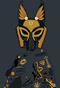 Late Night Egyptian Tales Ep.1 : Anubis by Andreea Niculae, via Behance