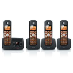 Shop for Motorola Cordless Big Backlit Button Phone with 4 Handsets/ Caller ID and Answering System. Get free delivery On EVERYTHING* Overstock - Your Online Exterior Accessories Store! Electronics Companies, Caller Id, Home Phone, User Experience, Accessories Store, Sale Items, Good Things, Digital, Ebay