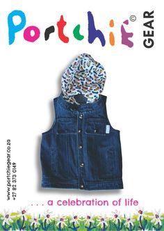 Boys denim hooded #gillet by #PortchieGear www.portchiegear.co.za