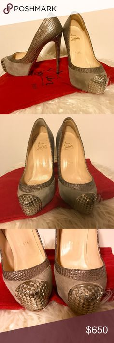 Christian Louboutin Maggie Pump / 36 / 6 Almost Perfect. Worn once to a restaurant (see bottoms). Questions are welcome but please no low ball offers on these as they are priced very fair for the shape they are in. Christian Louboutin Shoes Heels