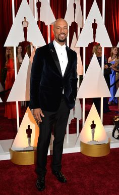 Common always dresses well, and this velvet Prada number is truly beautiful, as is his white-on-white shirt and tie. If he was showing some shirt cuff he might have made the top 3.    - Esquire.com
