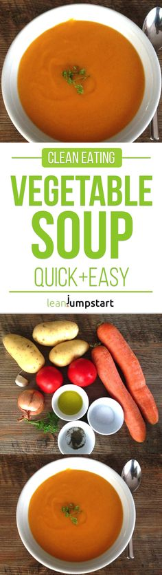 This lean, clean eating vegetable soup is a perfect treat for a stormy autumn day. It is simple & ready in less than 35 minutes. Click here for the recipe!