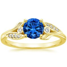 Yellow Gold Sapphire Jasmine Diamond Ring from Brilliant Earth Natural Sapphire Rings, Love Knot Ring, Celtic Wedding Rings, Rose Gold Diamond Ring, Cubic Zirconia Rings, Rings Online, White Gold Rings, Or Rose, Ring Designs