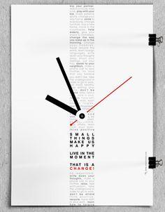 """Think Positive"" Poster, design by Vasilis Magoulas / #graphic #design #print #positive"