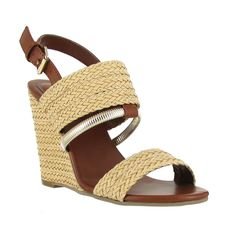 The Adria- Raffia Wedge Sandal. Click the pic to shop #MIAShoes