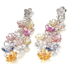 Meissen Joaillerie Couture - Haute Couture earrings with diamonds and sapphires. Photo courtesy press office.