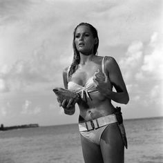 Bond Girls .URSULA ANDRESS AS HONEY RYDER Perhaps one of the most iconic Bond girls of all time and her emergence from the sea in a tiny bikini sent pulses racing in Dr. No.