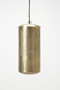 Clipped Brass Pendant Lamp  #anthropologie