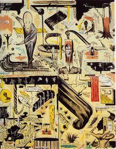 W D (Bill) Hammond Surrealism Painting, Pop Surrealism, Artist Painting, Painting & Drawing, Creation Myth, Maori Designs, New Zealand Art, Nz Art, Maori Art