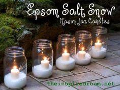 Ideas For Decorating With Glittery Epsom Salt Snow