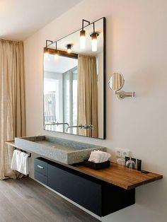7 Refreshing Cool Tips: Minimalist Bedroom Curtains Window Treatments cozy minimalist home woods.Minimalist Home Design Entryway industrial minimalist bedroom small spaces. Bathroom Toilets, Bathroom Renos, Bathroom Interior, Minimalist Interior, Minimalist Bedroom, Minimalist Decor, Warm Bathroom, Modern Bathroom, Stone Bathroom Sink