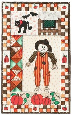 Fall Patchwork Quilted Wall Hanging Pattern