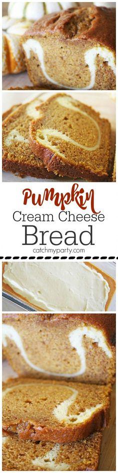 Last Minute Pumpkin Cream Cheese Bread Recipe | CatchMyParty.com