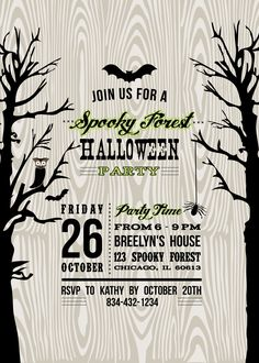 Free Halloween Party Invitation Printables , Ghost Madness, Free ...