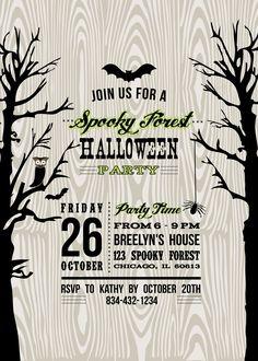 Free Halloween Invitation Template | upfashiony.com