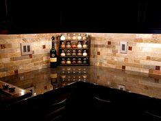 Like the electric cover design kitchen backsplash black, brown, red pattern y| ... backsplash Travertine tile kitchen backsplash Tile Backsplash Patterns  o