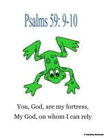 Frogs (Christian Based) F.R.O.G - Fully Rely On God