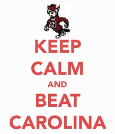 Even though i wont be going to state i will always be a Wolfpack fan, and i will ALWAYS hate Carolina.