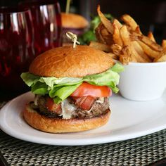 An optional topping for star chef Michael Schwartz's Harris Ranch Black Angus beef burger: house-smoked bacon .#burger #food #beef