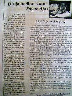 SÓ PARA LEMBRAR - Artigo Edgar Ájax sobre Aerodinâmica - www.ajax-pucci.blogspot.com