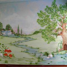 Ζωγραφικη παιδικου δωματιου νεραιδοτοπος