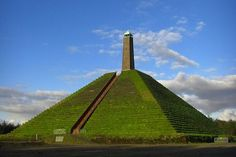 The Pyramid of Austerlitz is the only pyramid in Europe and it was dedicated to Napoleon Bonaparte Napoleon, Picture Places, Cute N Country, Pyramids Of Giza, Ancient Architecture, Landscape Architecture, Utrecht, How To Take Photos, Netherlands