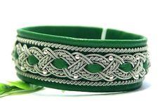 Sami Swedish Lapland leather bracelets and jewelry by ScandicraftRU Silver Beads, Silver Bracelets, Cuff Bracelets, Embroidery Bracelets, Swedish Vikings, Viking Braids, Braids With Beads, Lappland, Girls Jewelry