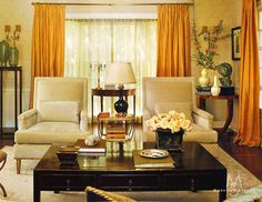 The Living room features hand-stenciled walls by Jean Horihata, custom upholstery and French, English and Chinese antiques.