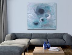 'MiRACLE' original abstract painting by Linnea Heide ©www.linneaheide.com
