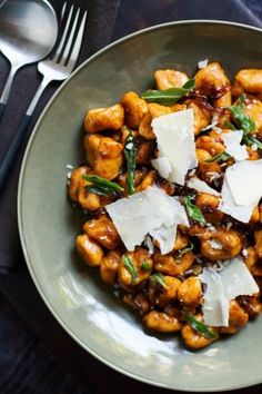 sweet potato gnocchi with brown butter-balsamic sauce