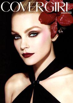 Jessica Stam - CG lip perfection in euphoria