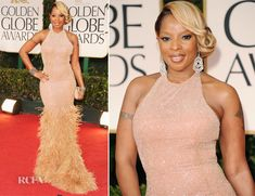 Mary J Blige In Michael Kors at the 2012 Golden Globe Awards. Definitely giving Old Hollywood Glam!