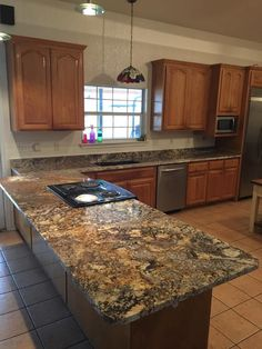 Yucatan Granite   Custom Kitchen Countertops   Undermount Sink   Blanco  Granite Composite   Kitchen Remodel