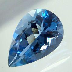 1.1 Cts 9x5.9 MM Top Natural Untreated AAA Grade Aquamarine Pear Shape Cut Stone #GemstonePioneer