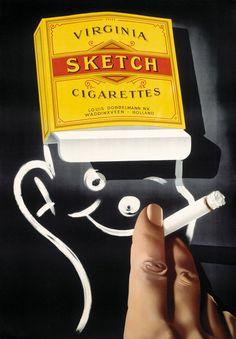 Sketch - Virginia cigarettes - (F. Mettes) -